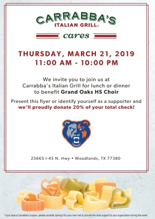 Carrabba's Spirit Day 2019